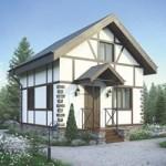 Проект дома из пеноблока № 56-02