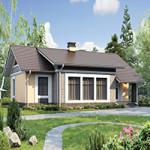 Проект дома из пеноблока №56-66