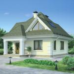 Проект дома из пеноблоков № 54-30