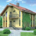 Проект дома из пеноблока № 53-53