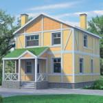 Проект дома из пеноблока № 51-51