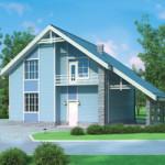 Проект дома из пеноблоков № 54-33