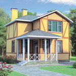Проект дома из пеноблока № 51-50