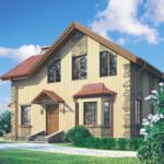 Проект дома из пеноблока № 54-25