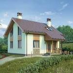 Проект дома из пеноблока № 56-78