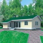 Проект дома из пеноблока № 51-12