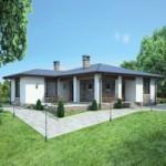 Проект дома из пеноблока № 55-28