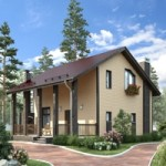 Проект дома из пеноблока № 56-18