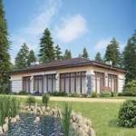 Проект дома из пеноблока № 56-98