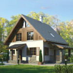 Проект дома из пеноблока № 55-40