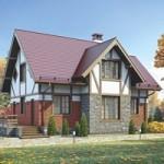 Проект дома из пеноблока № 55-98