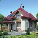 Проект дома из пеноблока № 55-39
