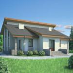 Проект дома из пеноблока № 53-88