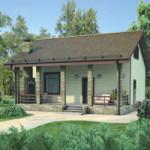 Проект дома из пеноблока № 54-56
