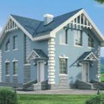 Проект дома из пеноблока № 54-36