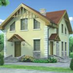 Проект дома из пеноблока № 54-35