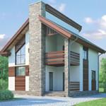 Проект дома из пеноблока № 53-89
