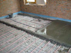 Как сделать бетонный теплый пол