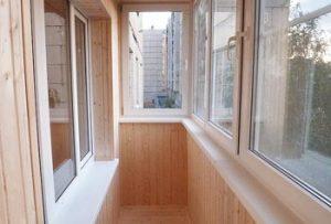 Обшивка балконов под ключ