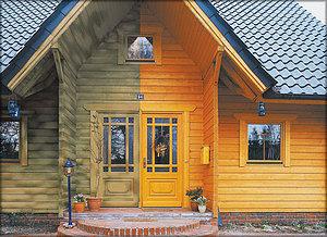 Лакокрасочные материалы для фасада деревянного дома